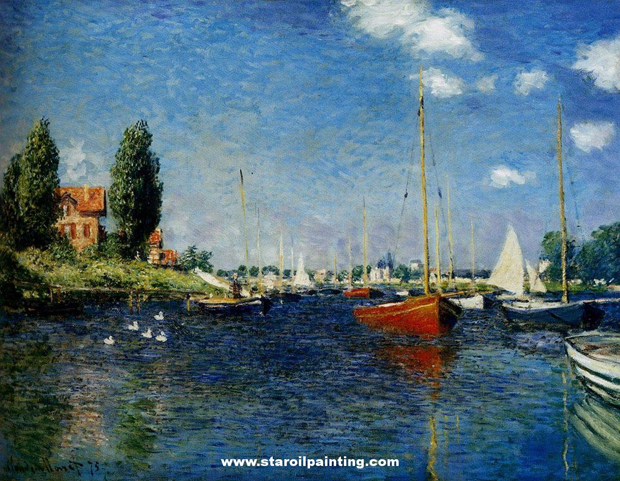 Impressions of the sea a look at boats in the lights and for Monet paintings images
